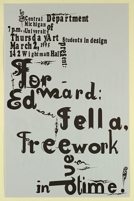 Forward Ed Fella Free Work - Central Michigan University