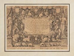 """Dedicatory page of the set """"Mediceae familiae rerum feliciter gestarum Victoria et triumphi"""""""