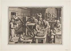 Engraving on metal; Engravers on a ship