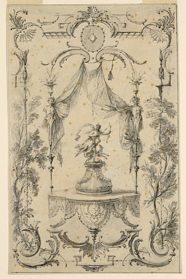 Design for Wall Panel on Theme of Diana