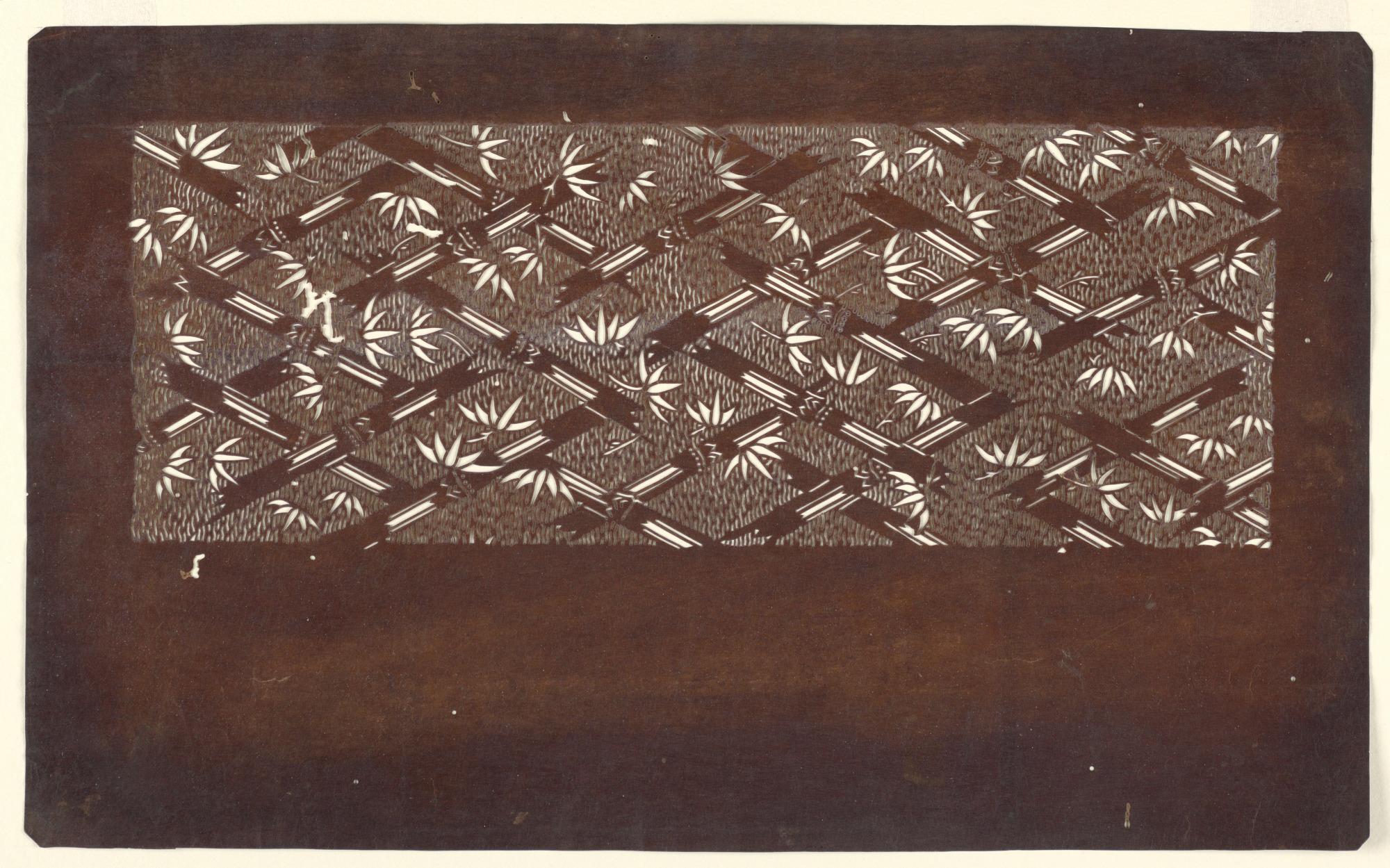 Bamboo on lattice weave