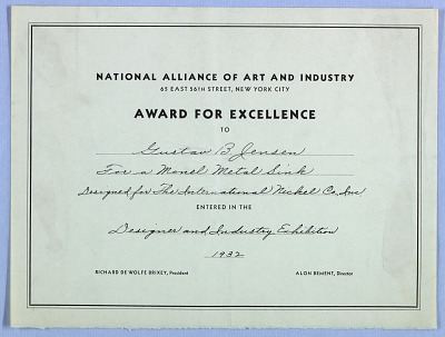 National Alliance of Art and Industry Award
