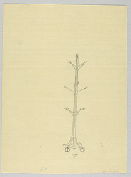 "Design for Hat Tree ""C"" with Angled Branches"