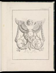 Design for a Sphinx, pl. 2, Deuxieme Cahiers des arabesques dessinés par J. B. Huet... [Book 2, Portfolios of Arabesques Designed by J.B. Huet]