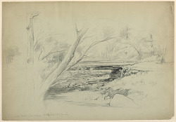 Artist's Brook, Hoit Sketching, Mosquitoes Biting Furiously