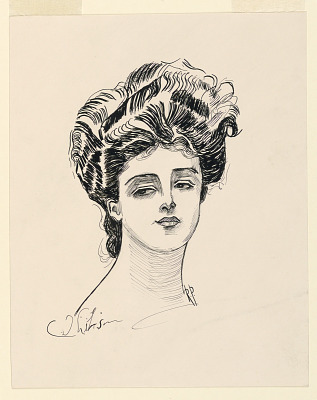 A Lady's Head, from Scribner's