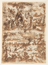 Above: Erminia and the shepherd; Below: Atalanta hunting the Calydonian Boar
