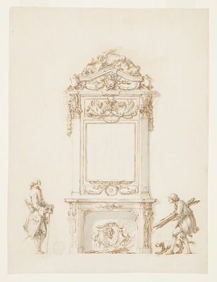 Design for a Fireplace, Antinous Room, Villa Albani, Rome, Italy