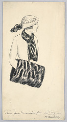Fashion Design for Ladies' Wear, Drawn from Wanamaker's Furs