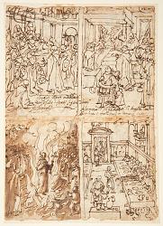 Eight Scenes from Life of San Giovanni Gualberto (recto and verso)