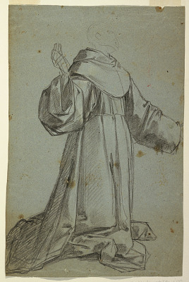 Sheet with Sketch of a Monk