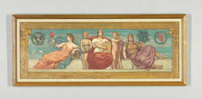 The Statute Law, Study for Right Panel of
