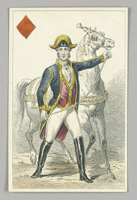 Habsburg Horseman, Jack of Diamonds from Set of