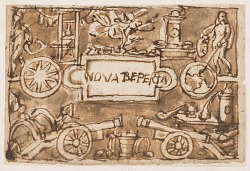 "Preliminary Design for the Title Page of the ""Nova Reperta"" (New Inventions of Modern Times) print series"