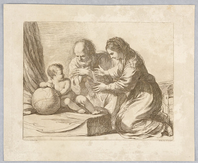 Virgin Mary, Joseph, and Child, with a Globe
