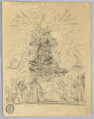 Sketch of Figure on a Cross