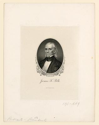Portrait of James K. Polk