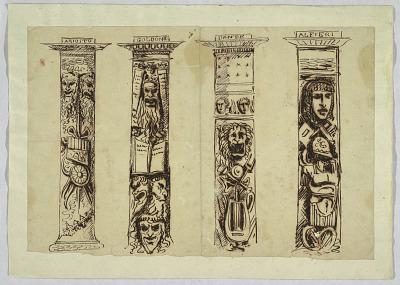 Four Columns to Italian Renaissance Writers