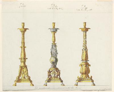 Three Designs for Candlesticks
