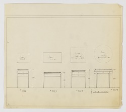 Designs for Four Occasional Tables with Tapered Legs