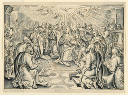 Scene from Acts of the Apostles, after Stradanus