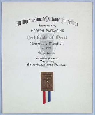 All America Twelve Package Competition Certificate