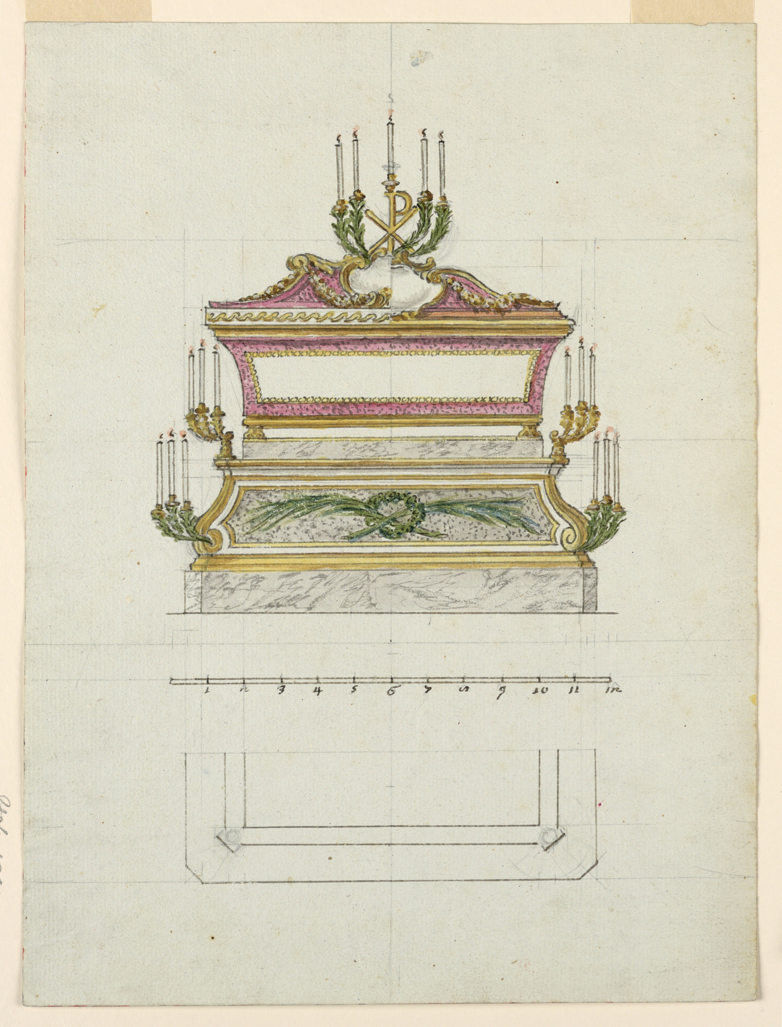 Design for a Reliquary Sarcophagus