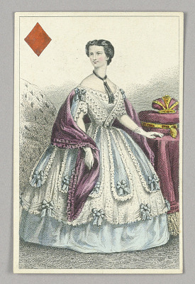 Elisabeth, Empress of Austria, Queen of Diamonds from Set of