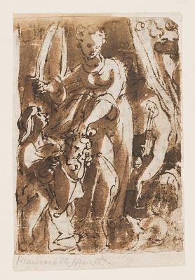 Recto: Judith with head of Holofernes; Verso: Pietà