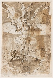 Recto: St. Christopher carrying the infant Christ (left), Virgin and Child (right); Verso: Lucifer Appearing to Dante and Virgil in Hell