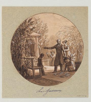 Design for a Painted Porcelain Plate, Le Jasmin (Jasmine) from the Service de la Culture des Fleurs (Cultivation of Flowers Service)