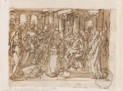 "The Judgment of Solomon, preliminary design for ""Spiritus Sapientiae"" (The Spirit of Wisdom), plate 1 in the ""Seven Gifts of the Holy Spirit"" print series"