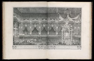 Pompe funèbre de Marie Thérèse d'Espagne Dauphine de France, en l'église de l'abbaye royale de St. Denis le V septembre M.D.CCXLVI (Funeral of Marie Thérèse of Spain, Dauphine of France, in the church of the royal abbey of St. Denis, September 5, 1746)