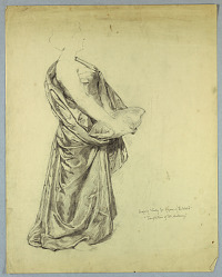 """Drapery Study for Figure of """"The World"""" in """"Temptation of St. Anthony"""""""