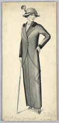 Fashion Design for Ladies' Wear, Drawn from Garment