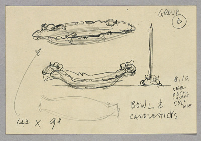 Sketches of bowls and can