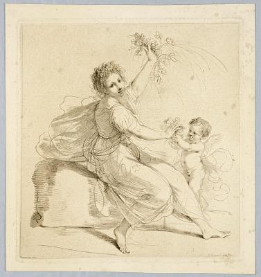 Flora, with a Boy