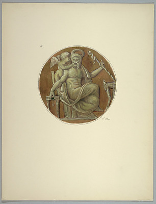 Copy of central medallion after Masreliez