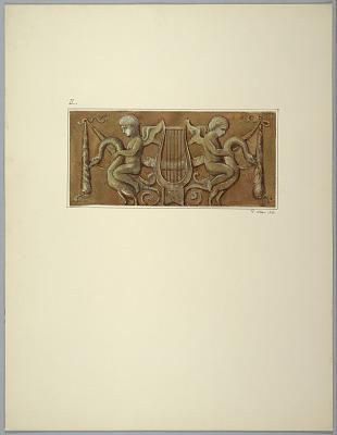 Copy of painting of door leaf after Masreliez