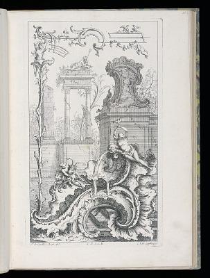 Cartouche with Ruins and Columns, Livre Nouveau de Morceaux de Fantaisie (New Book of Fantasy Pieces)