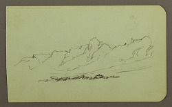 Mountain Landscape; Verso: Mountain Range, Figure