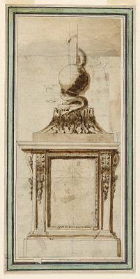 Elevation of Pedestal and Bottom of a Crucifix