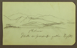 Mountain Landscape; Verso: Mountain Landscape, Figure