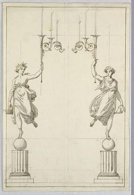 Design for a Pair of Candelabra