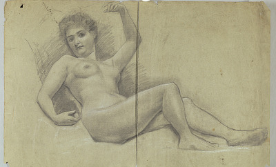 Study of Reclining Nude Figure