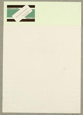 Arch. Alfred Sander, Wien/Propaganda Reklame