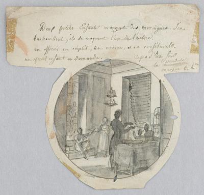 Design for a Painted Porcelain Plate, Les Meringues (Meringues) for the Service des Objets de Dessert (Dessert Service)