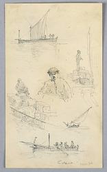 Sketches in the Harbor of Catania