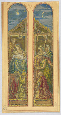 Adoration of the Magi (Design for Stained Glass Window)