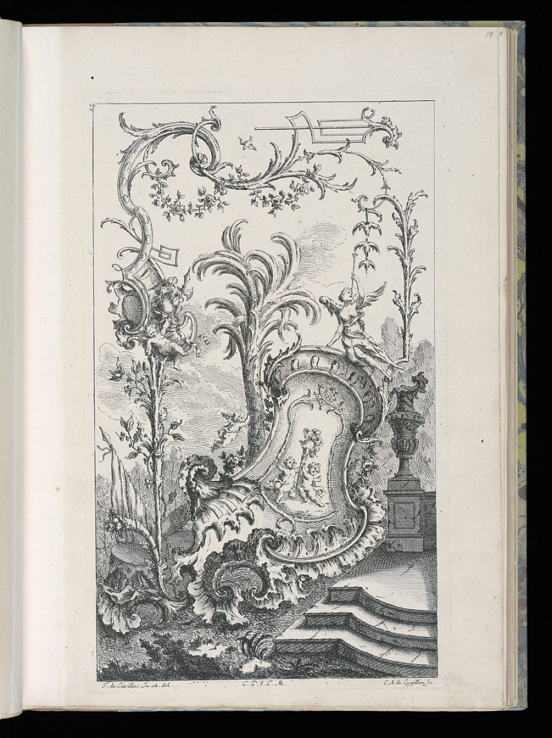 Resources Design For Cartouche With Putti Supporting